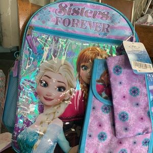 Other - NWT Disney Frozen Backpack 5 pc Set